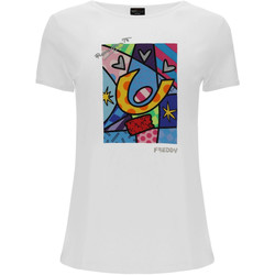 textil Mujer Tops y Camisetas Freddy F0WBRT1 Blanco