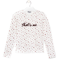 textil Niña Camisetas manga larga Losan 024-1008AL Blanco