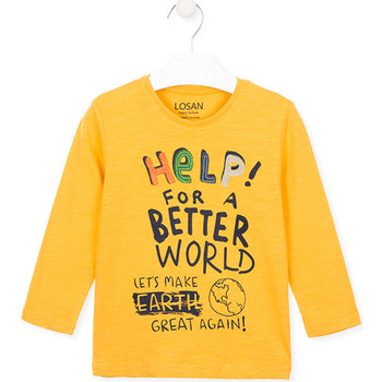textil Niños Tops y Camisetas Losan 025-1005AL Amarillo