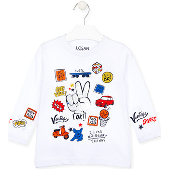 textil Niños Camisetas manga larga Losan 025-1026AL Blanco