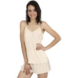 textil Mujer Pijama Admas Classic PLEATED CHAMPAGNE