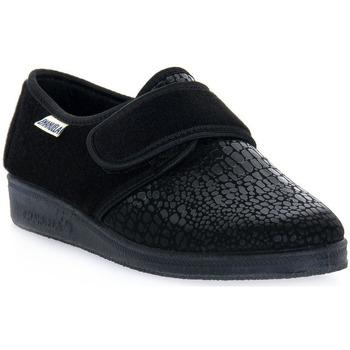 Zapatos Hombre Pantuflas Emanuela 608 NERO PANTOFOLA Nero