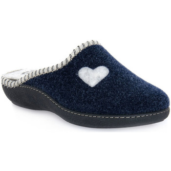 Zapatos Mujer Pantuflas Emanuela 1800 BLU PANTOFOLA Blu