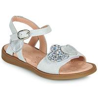 Zapatos Niña Sandalias Acebo's 5500SU-BLANCO Blanco / Plata