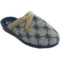 Zapatos Mujer Pantuflas Nevada Zapatilla mujer abierta detrás estampado azul