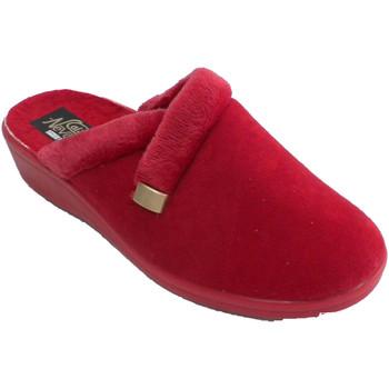 Zapatos Mujer Pantuflas Nevada Zapatillas mujer abiertas detrás rojo