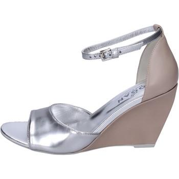 Zapatos Mujer Sandalias Hogan Sandalias Cuero brillante Plata