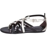 Zapatos Mujer Sandalias Hogan BK663 Marrón