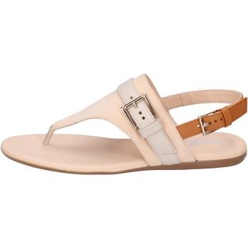 Zapatos Mujer Sandalias Hogan Sandalias Cuero nobuck Beige