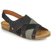 Zapatos Mujer Sandalias Art CRETA Negro
