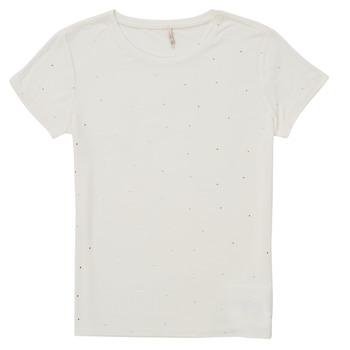 textil Niña Camisetas manga corta Only KONMOULINS Blanco