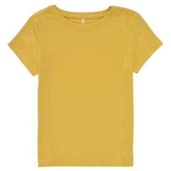 textil Niña Camisetas manga corta Only KONMOULINS Amarillo