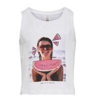textil Niña Camisetas sin mangas Only KONLANA Blanco