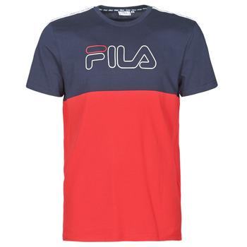 textil Hombre Camisetas manga corta Fila JOPI Rojo / Marino