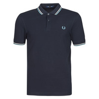 textil Hombre Polos manga corta Fred Perry TWIN TIPPED FRED PERRY SHIRT Marino / Blanco / Azul