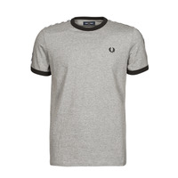 textil Hombre Camisetas manga corta Fred Perry TAPED RINGER T-SHIRT Gris