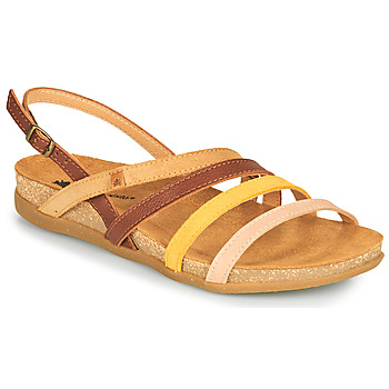Zapatos Mujer Sandalias El Naturalista ZUMAIA Marrón / Amarillo / Rosa