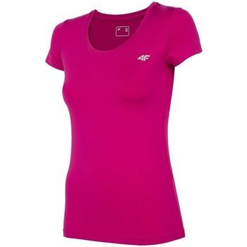 textil Mujer Camisetas manga corta 4F TSDF002 Rosa