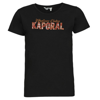 textil Mujer Camisetas manga corta Kaporal PENIN Negro