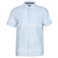 textil Hombre Camisas manga corta Kaporal STEVE Azul