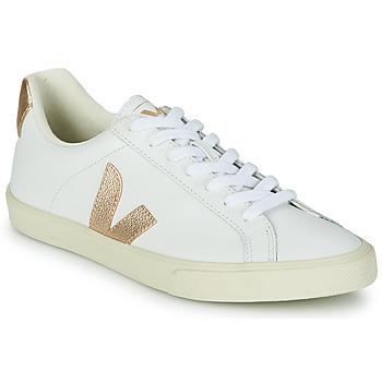 Zapatos Mujer Zapatillas bajas Veja ESPLAR LOGO Blanco / Oro