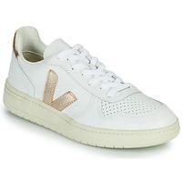 Zapatos Mujer Zapatillas bajas Veja V-10 Blanco / Oro