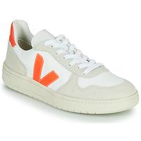 Zapatos Zapatillas bajas Veja V-10 Blanco / Naranja