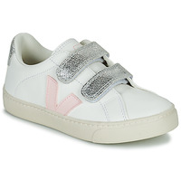Zapatos Niña Zapatillas bajas Veja SMALL ESPLAR VELCRO Blanco / Oro