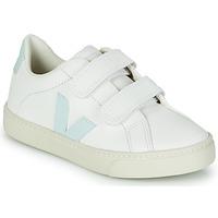 Zapatos Niña Zapatillas bajas Veja SMALL ESPLAR VELCRO Blanco / Azul / Rojo