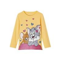 textil Niña Camisetas manga larga Name it TOM&JERRY Amarillo