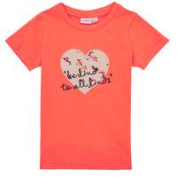 textil Niña Camisetas manga corta Name it NMFDELFIN TOP Coral