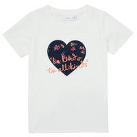 textil Niña Camisetas manga corta Name it NMFDELFIN TOP Blanco