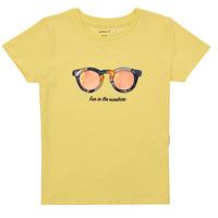 textil Niña Camisetas manga corta Name it NMFFISUMMER Amarillo