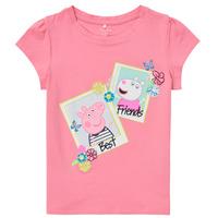 textil Niña Camisetas manga corta Name it PEPPAPIG Rosa
