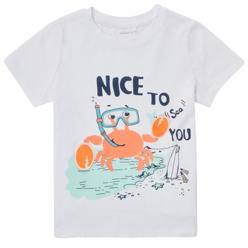 textil Niño Camisetas manga corta Name it NMMFANO Blanco