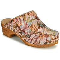Zapatos Mujer Zuecos (Clogs) Sanita ORCHID Beige / Rosa / Azul