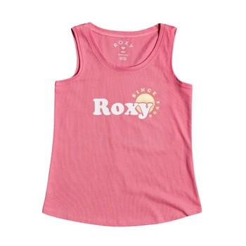 textil Niña Camisetas sin mangas Roxy THERE IS LIFE FOIL Rosa