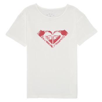 textil Niña Camisetas manga corta Roxy DAY AND NIGHT PRINT Blanco