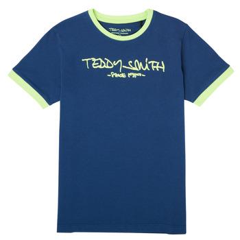textil Niño Camisetas manga corta Teddy Smith TICLASS 3 Marino