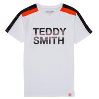 textil Niño Camisetas manga corta Teddy Smith T-MACK Blanco