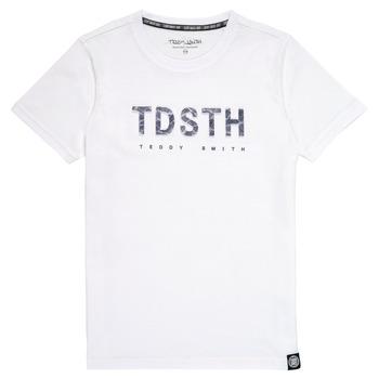 textil Niño Camisetas manga corta Teddy Smith T-MAX Blanco