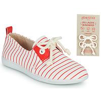 Zapatos Niños Zapatillas bajas Armistice STONE ONE Blanco / Rojo