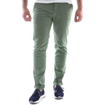 textil Hombre Pantalones chinos Sei3sei 6OYSTER E1648 Verde