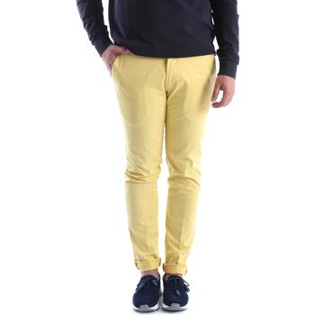 textil Hombre Pantalones chinos Sei3sei 6OYSTER E1648 Amarillo