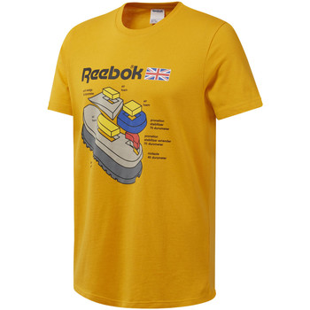 textil Hombre Camisetas manga corta Reebok Sport DT8125 Amarillo