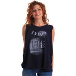 textil Mujer Camisetas sin mangas Key Up 5Z14S 0001 Azul