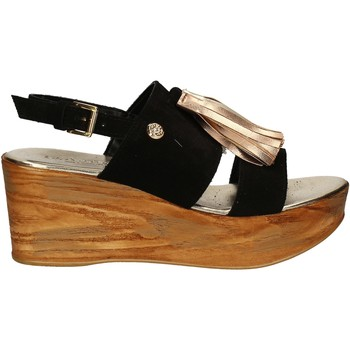 Zapatos Mujer Sandalias Byblos Blu 672213 Negro