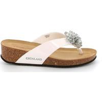 Zapatos Mujer Chanclas Grunland CB2482 Blanco