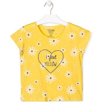 textil Niña Camisetas manga corta Losan 014-1013AL Amarillo