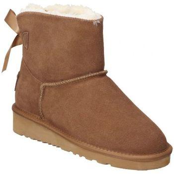 Zapatos Mujer Botas de nieve Top3 BOTINES  20857 MODA JOVEN CUERO Marron
